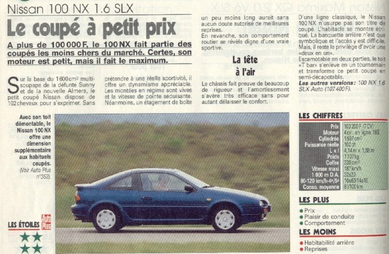Topic officiel NISSAN 100NX - B13 Presse-100nx-10